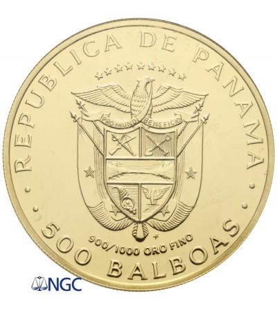 Panama 500 Balboas 1975 FM - NGC MS 68
