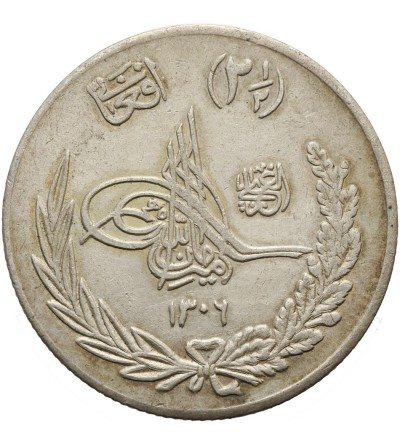 Afganistan 2 1/2 Afganis AH 1306 rok 9 / 1927 AD
