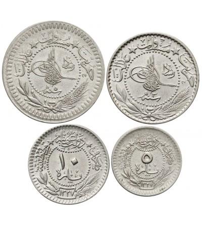 Ottoman Empire. Turkey 5, 10, 20, 40 Para AH 1327, Muhammad V