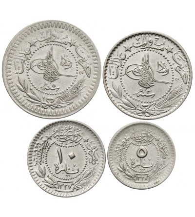 Turcja 5, 10, 20, 40 Para AH 1327, Muhammad V