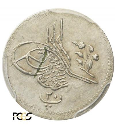 Ottoman Empire. Egypt 10 Para AH 1293 Year 3 / 1878 AD, Abdul Hamid - PCGS AU 58