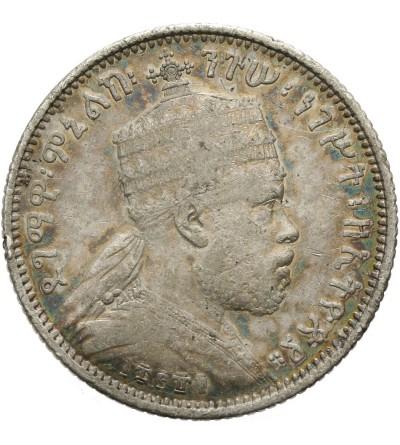 Etiopia 1/4 Birr 1889 EE / 1897 AD, Paryż