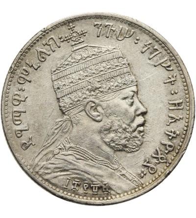 Ethiopia 1/4 Birr EE 1889 / 1897 AD, Paris
