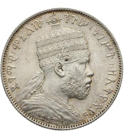 Ethiopia 1/2 Birr EE 1889 / 1897 AD, Paris