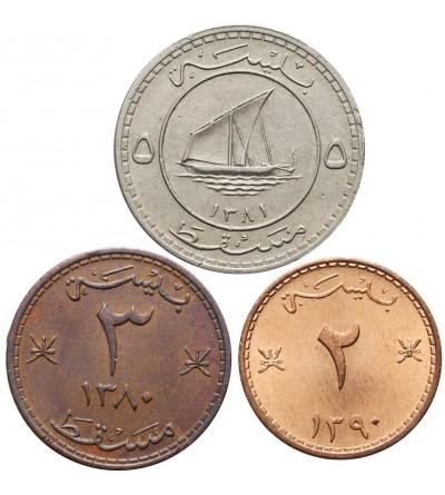 Muscat & Oman 2, 3, 5 Baisa - zestaw 3 sztuki