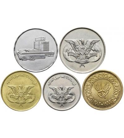 Jemen zestaw monet 5 sztuk