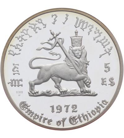 Ethiopia 5 Dollars 1972, Haile Salassie