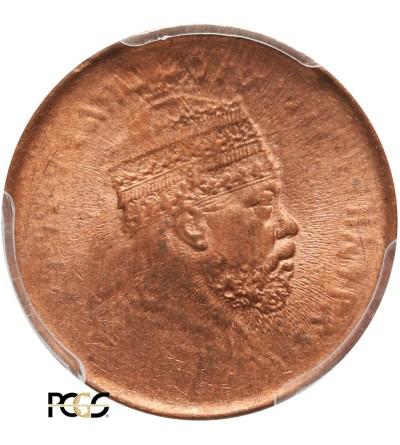 Ethiopia 1/32 Birr EE 1889 / 1897 AD - PCGS MS 63 RD