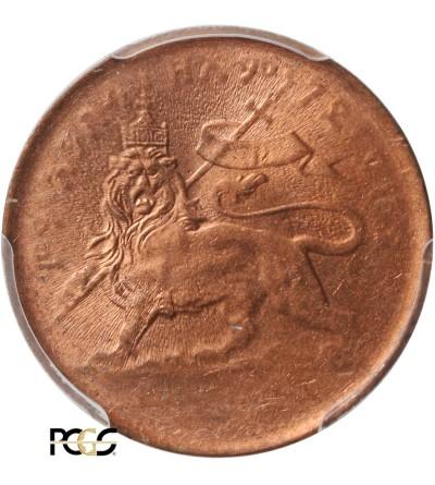 Etiopia 1/32 Birr EE 1889 / 1897 AD - PCGS MS 63 RD