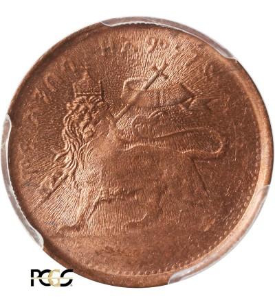 Etiopia 1/32 Birr EE 1889 / 1897 AD - PCGS MS 64 RD