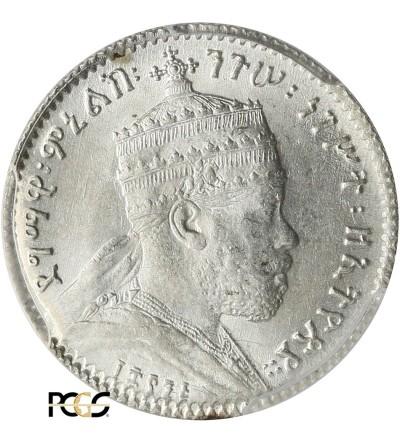 Ethiopia Gersh EE 1895 / 1902-1903 AD, Paris - PCGS MS 64