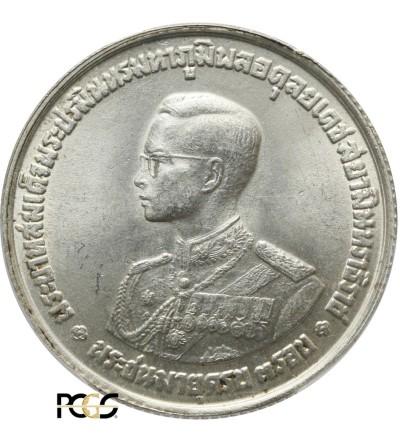 Tajlandia 20 Baht 1963, 36 urodziny króla Rama IX - PCGS MS 63
