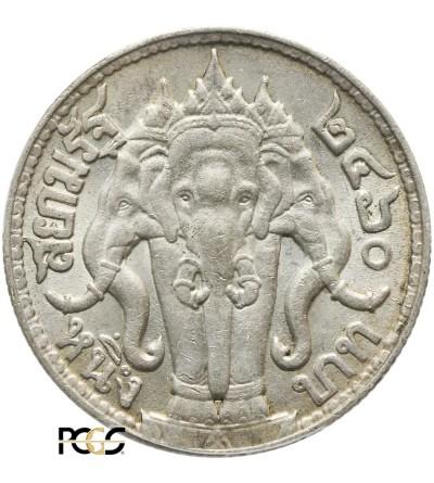 Tajlandia 1 Baht BE 2460 / 1917 AD - PCGS AU 58