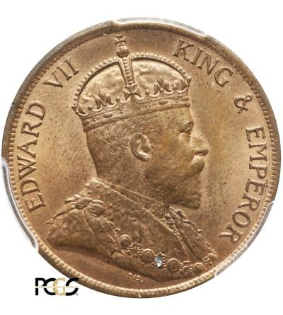 Hong Kong 1 Cent 1902 - PCGS MS 64 RB