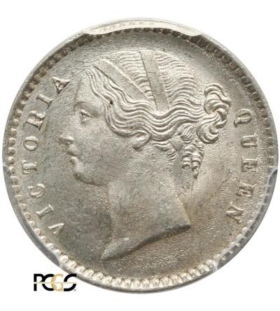 Indie Brytyjskie 2 Anna 1841 C - PCGS MS 64