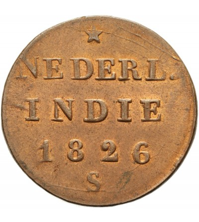 Indie Holenderskie 1/2 stuiver 1826