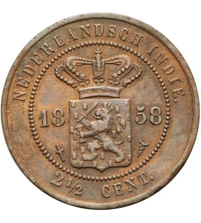 Indie Holenderskie 2 1/2 centa 1858
