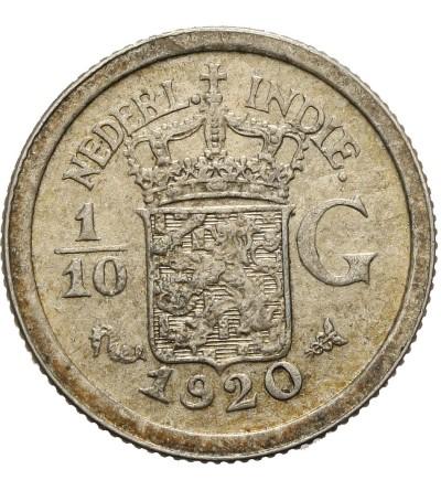 Indie Holenderskie 1/10 guldena 1920