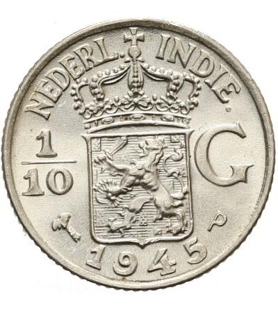 Indie Holenderskie 1/10 guldena 1945 P
