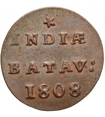 Wschodnie Indie Holenderskie 1/2 Duit 1808, Republika Batawska