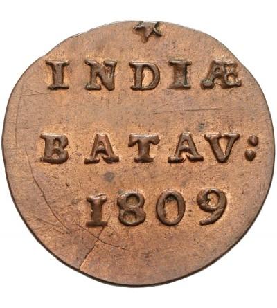 Wschodnie Indie Holenderskie 1/2 Duit 1809, Republika Batawska