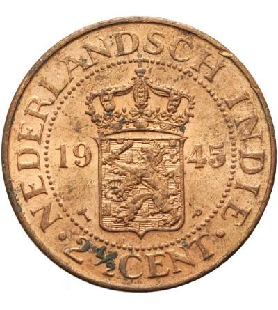 Wschodnie Indie Holenderskie 2 1/2 centa 1945 P