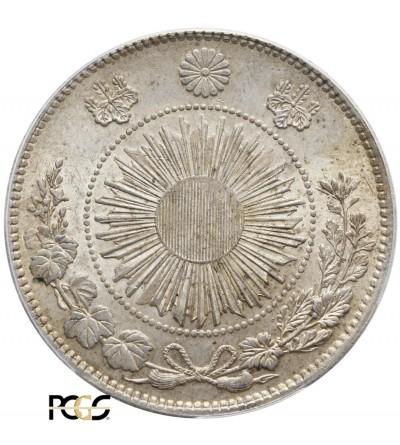 Japonia 1 Yen 1870 (rok 3) - PCGS MS 63