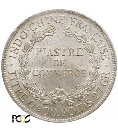 French Indo-China Piastre 1922 H - PCGS MS 63
