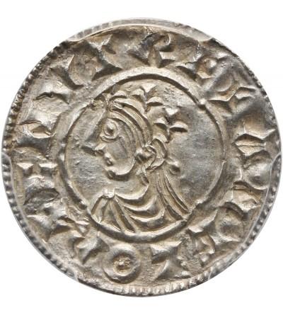 Anglia. Knut 1016-1035. Denar typu quatrefoil, ok. 1018-1024, Londyn