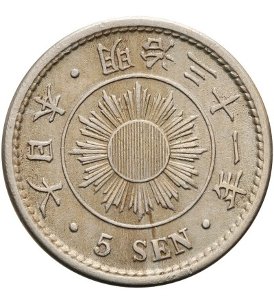 Japonia 5 sen rok 31 / 1898 AD