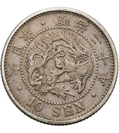 Japonia 10 sen ok 20 / 1887 AD