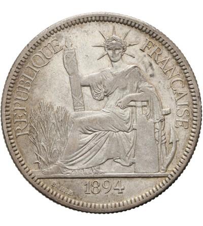 Indochiny Francuskie 1 piastre 1894 A