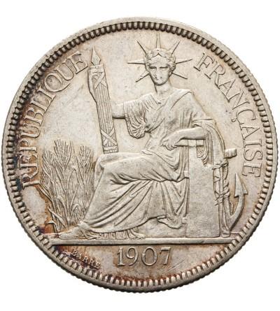 Indochiny Francuskie 1 piastre 1907
