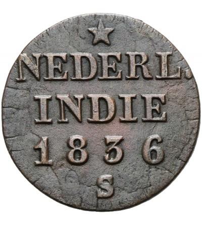 Wschodnie Indie Holenderskie 1/4 Stuiver 1836 S