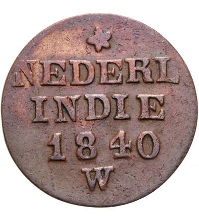 Wschodnie Indie Holenderskie 1 cent 1840 W