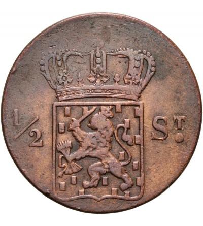 Netherlands East Indies 1/2 Stuiver 1822 S