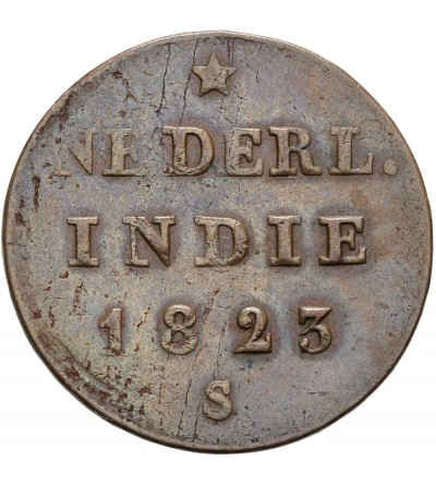 Wschodnie Indie Holenderskie 1/2 Stuiver 1823 S
