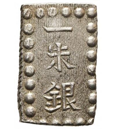 Japonia 1 shu (Isshu Gin) w srebrze bez daty (1853-65) Kaei