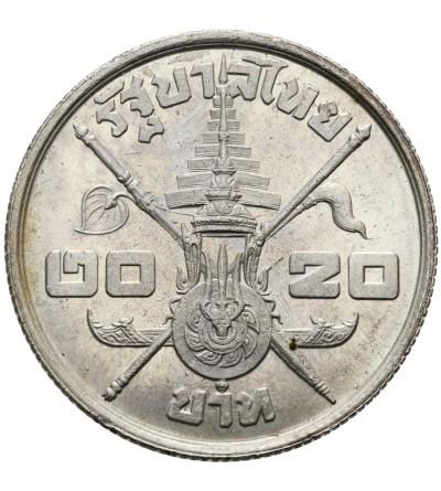 Tajlandia 20 Baht 1963, 36 urodziny króla Rama IX,