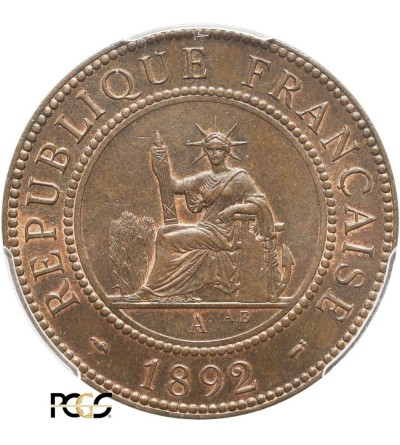 Indochiny Francuskie 1 cent 1892 A