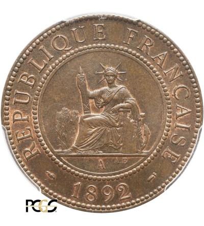 Indochiny Francuskie 1 cent 1892 A