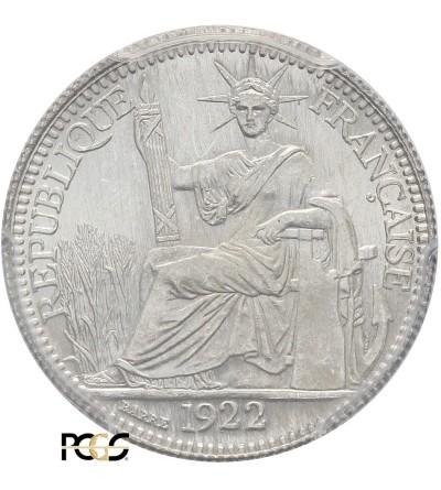 Indochiny Francuskie 10 centów 1922 A - PCGS MS 66