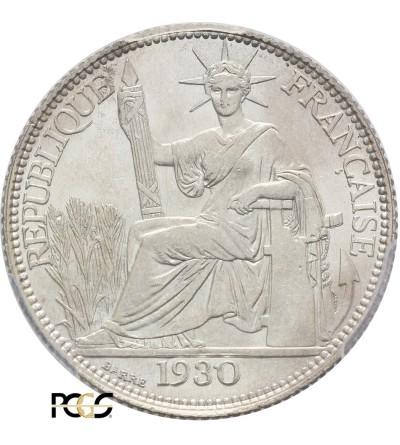 Indochiny Francuskie 20 centów 1930 A - PCGS MS 64
