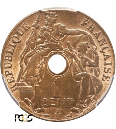 French Indo-China Cent 1919 A - PCGS MS 64 RB