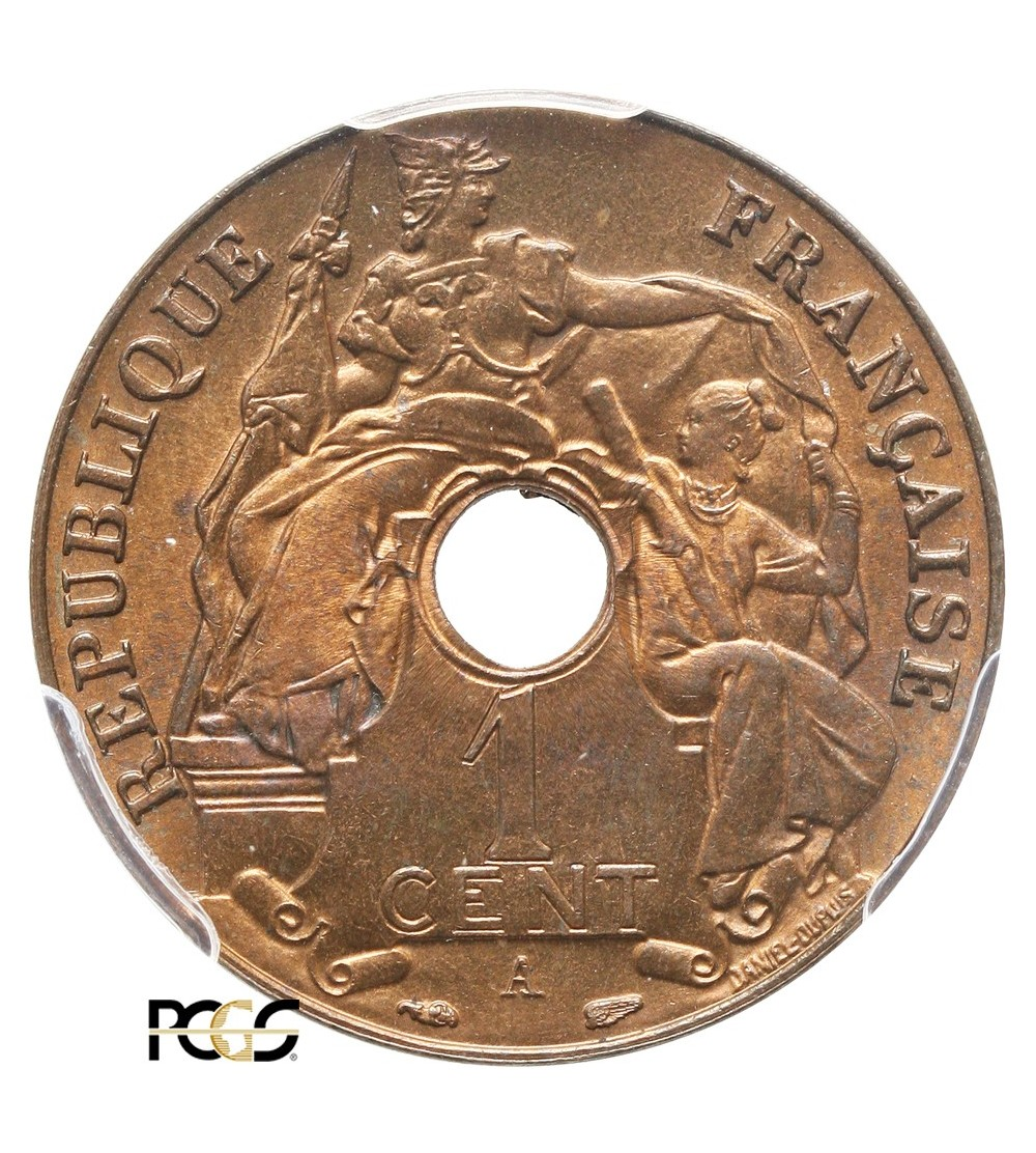 French Indo-China Cent 1938 A - PCGS MS 66 RB