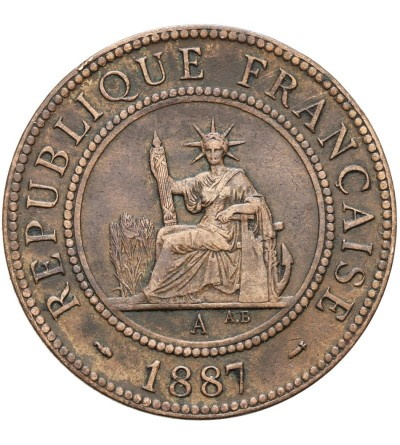Indochiny Francuskie 1 cent 1887 A
