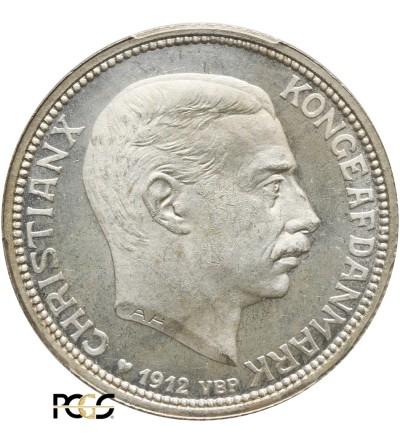 Dania 2 korony 1912 VBG AH - PCGS MS 66