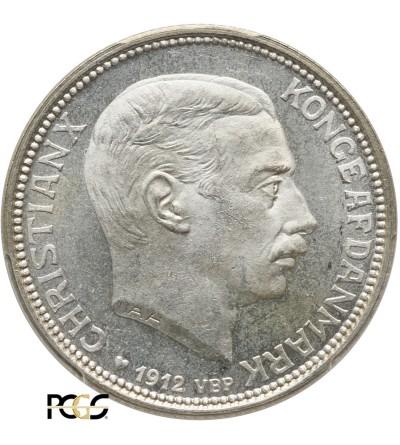 Dania 2 korony 1912 VBG AH - PCGS MS 65