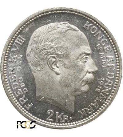 Dania 2 korony 1912 VBG AH - PCGS MS 64