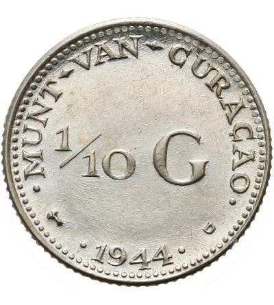 Curacao 1/10 guldena 1944 D